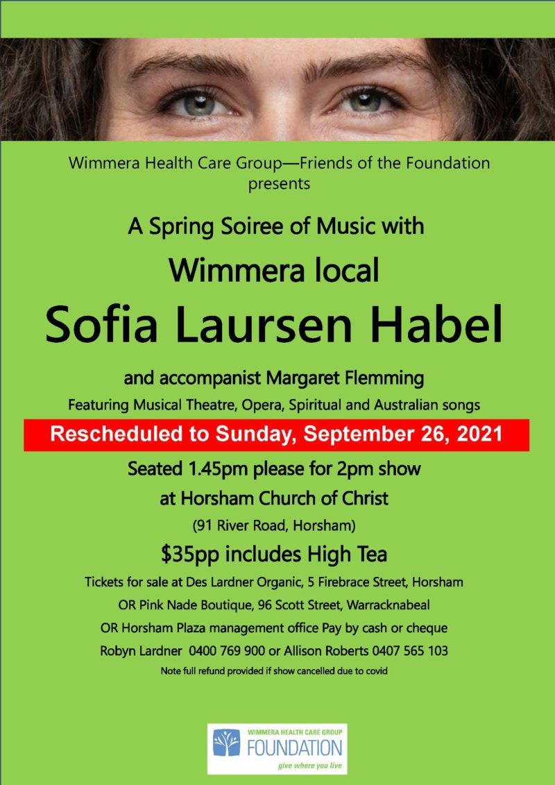 BOOK NOW: A Spring Soiree of Music with Wimmera Local Sofia Laursen Habel Featured Image
